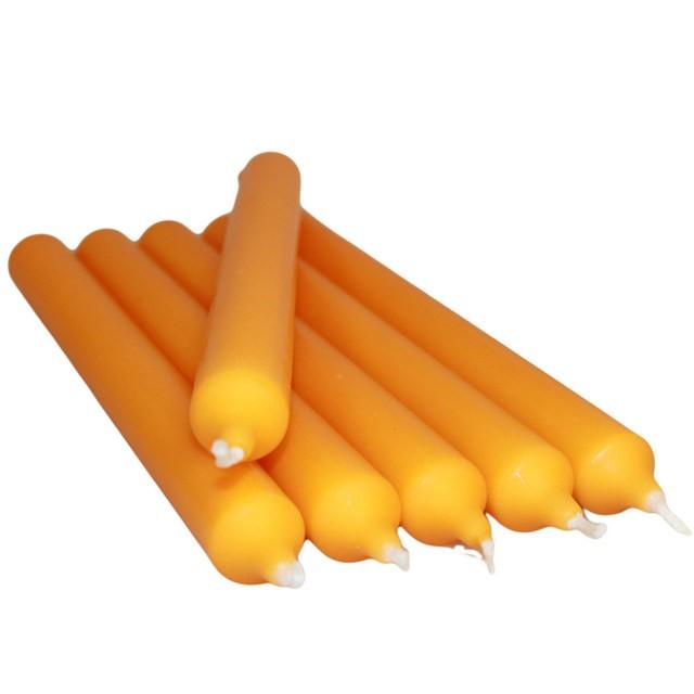 Bright Orange Dinner Candle