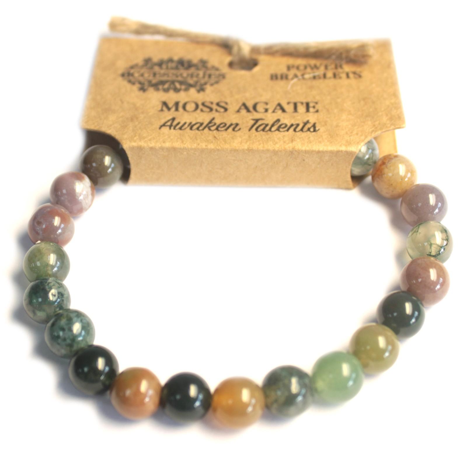 Power Bracelet Moss Agate