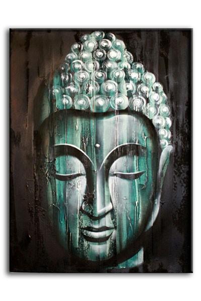 Wood Buddha Green60x80cm