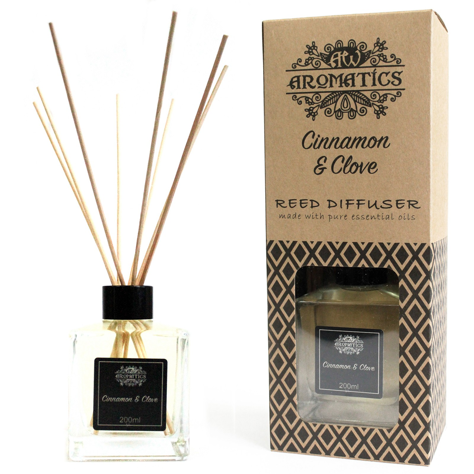 200ml Cinnamon and Clove Essential Oil Reed Diffuser