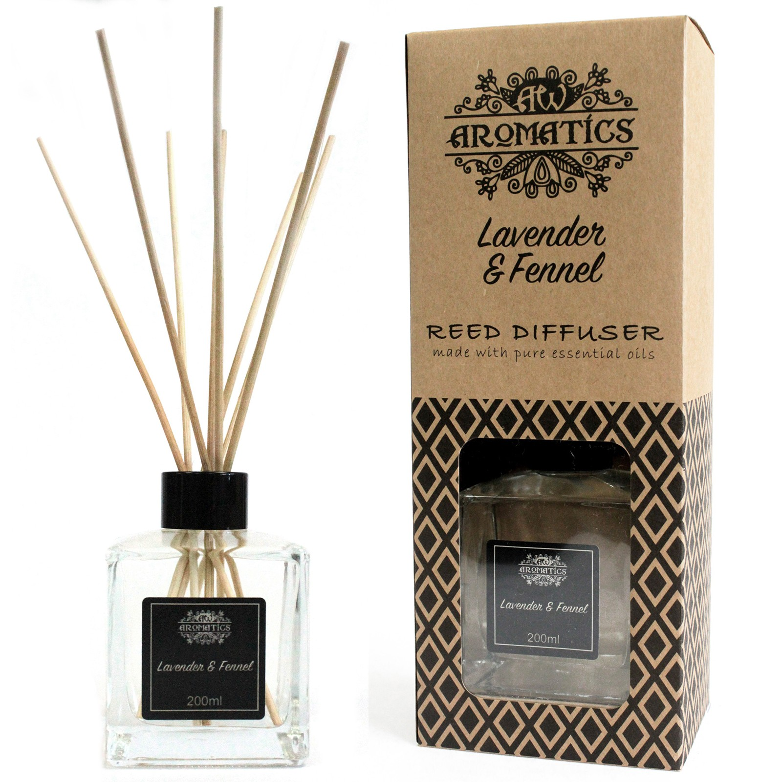 200ml Lavender and Fennel Essential Oil Reed Diffuser