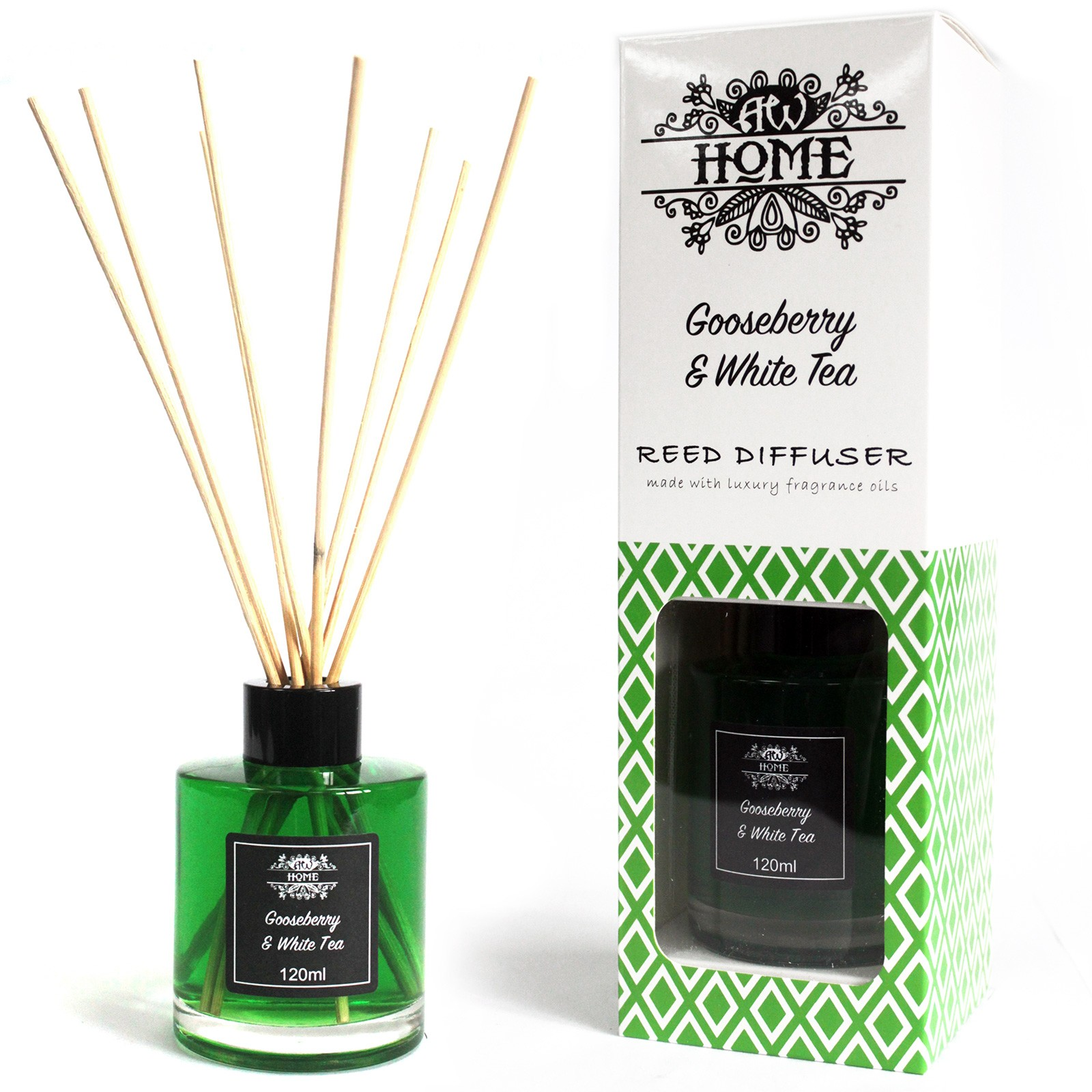 120ml Reed Diffuser Gooseberry and White Tea