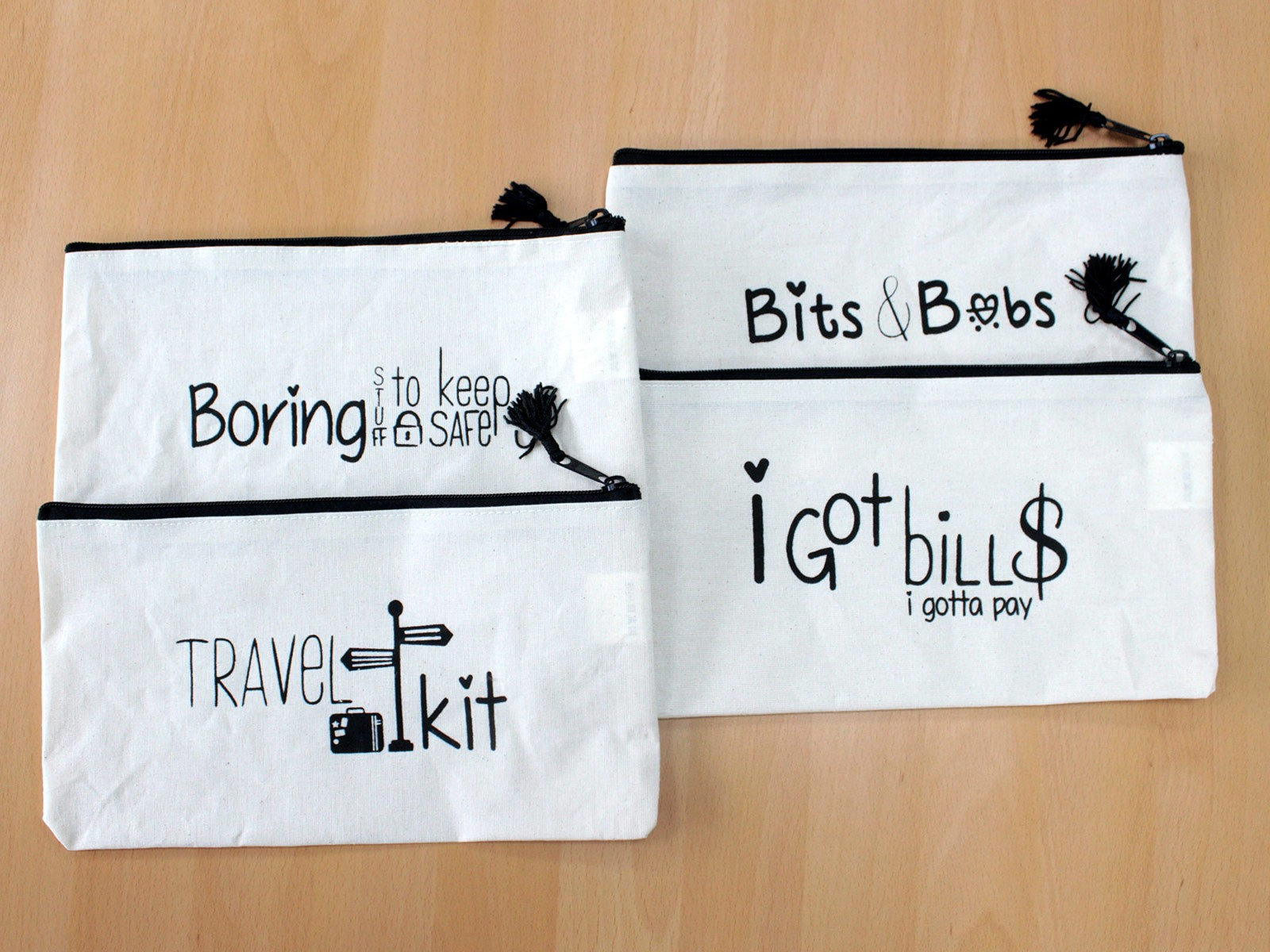 Get Organised Pouch Boring Stuff to Keep Safe