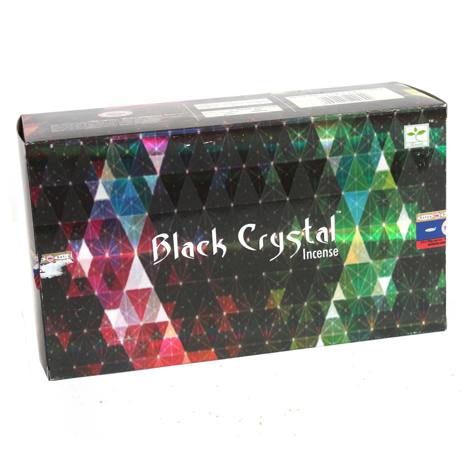 Satya Black Crystal Incense - 15gram - AW Dropship - Your ...