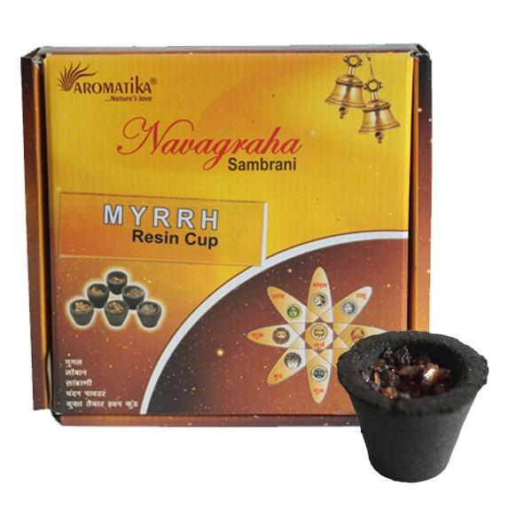 Box of 12 Resin Cups Myrrh