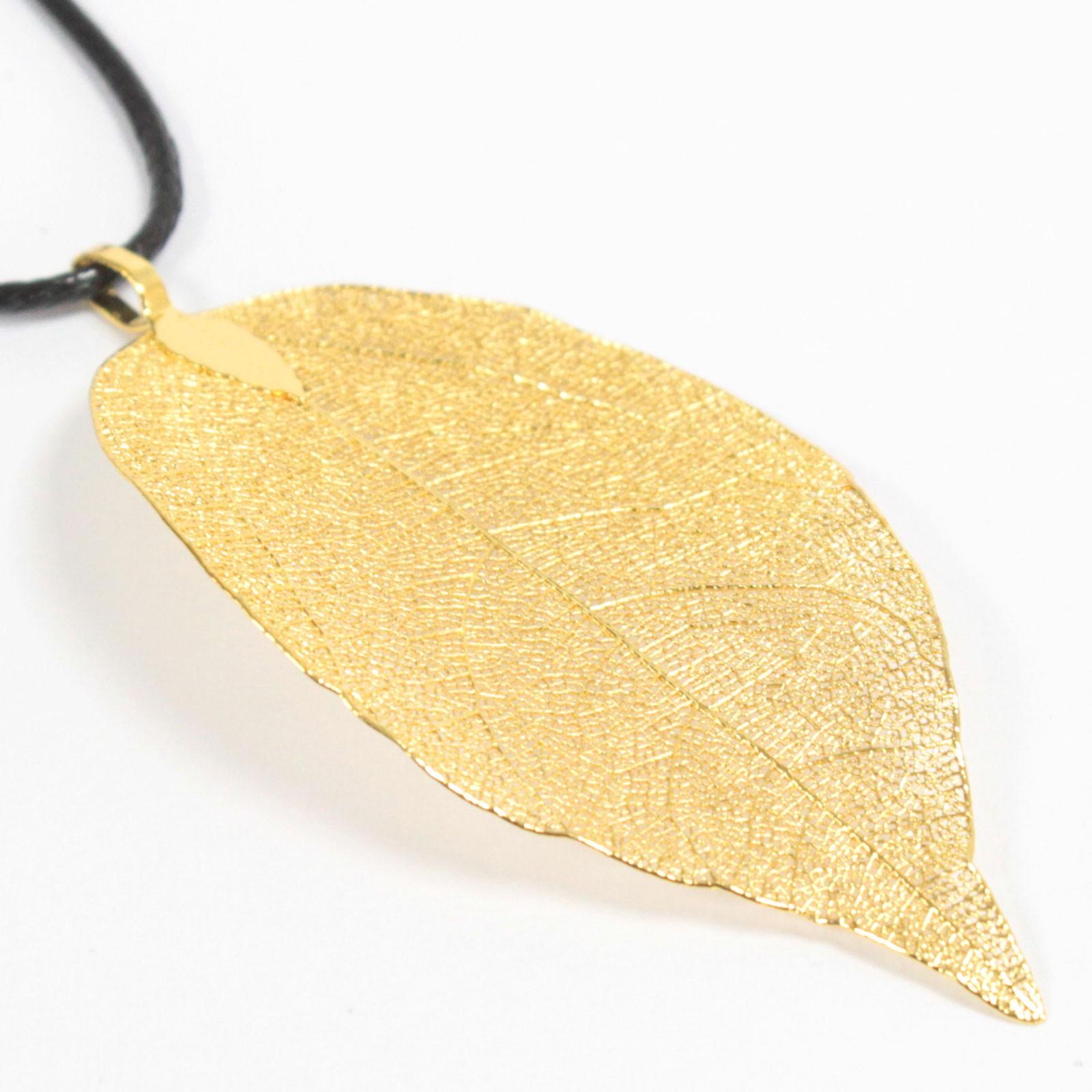 Necklace Bravery Leaf Gold