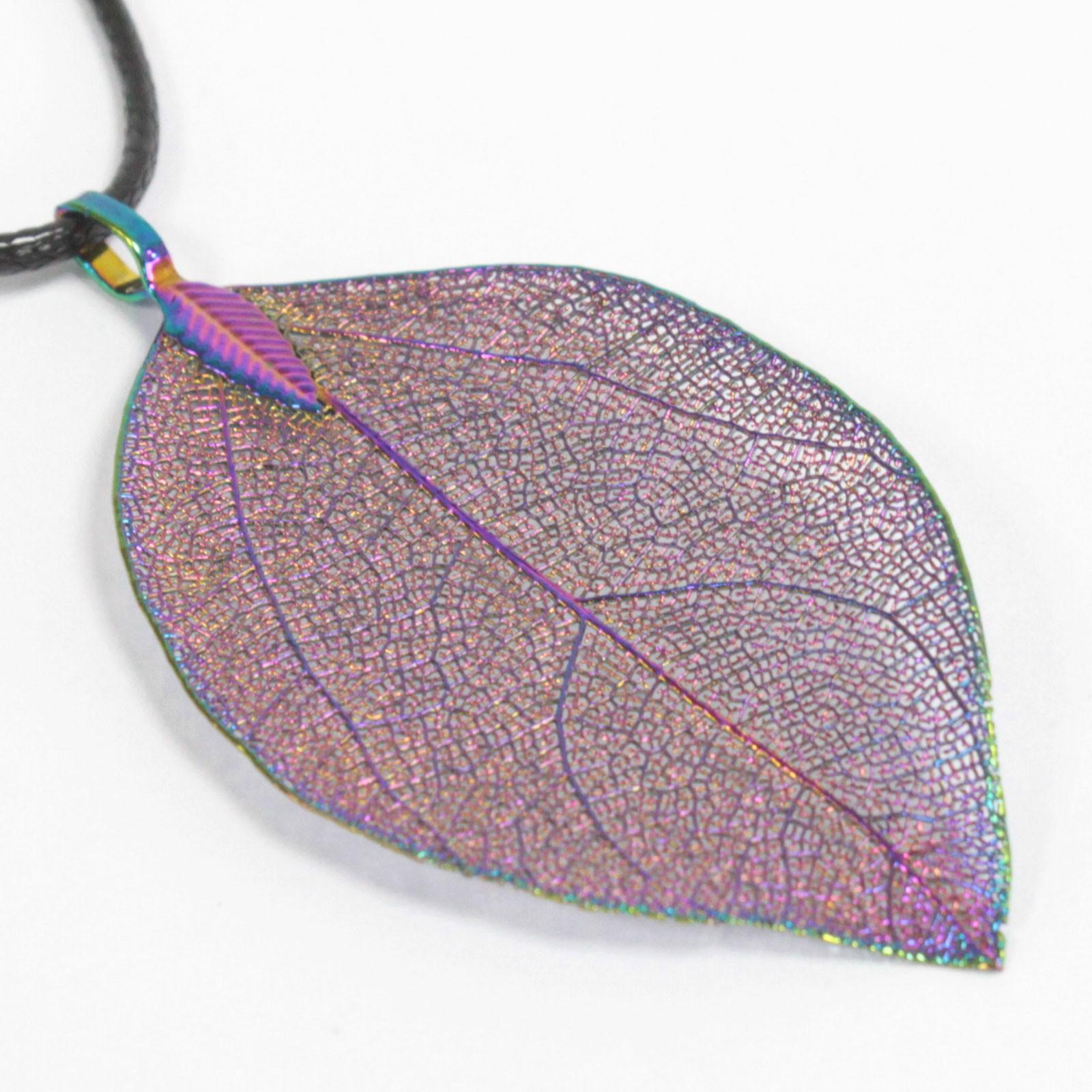 Necklace Bravery Leaf Multicoloured