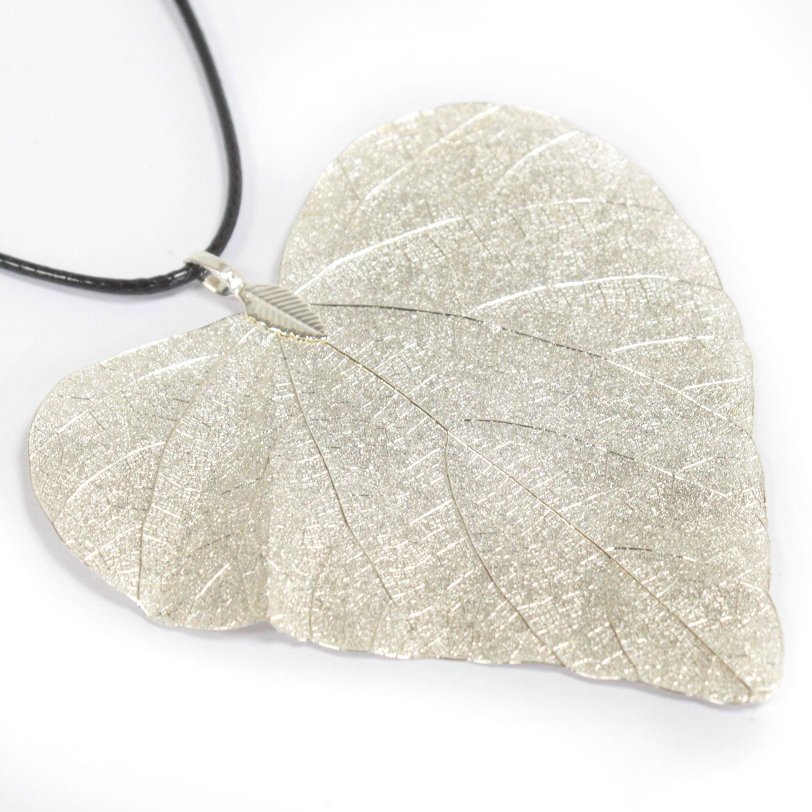 Necklace Heart Leaf Silver