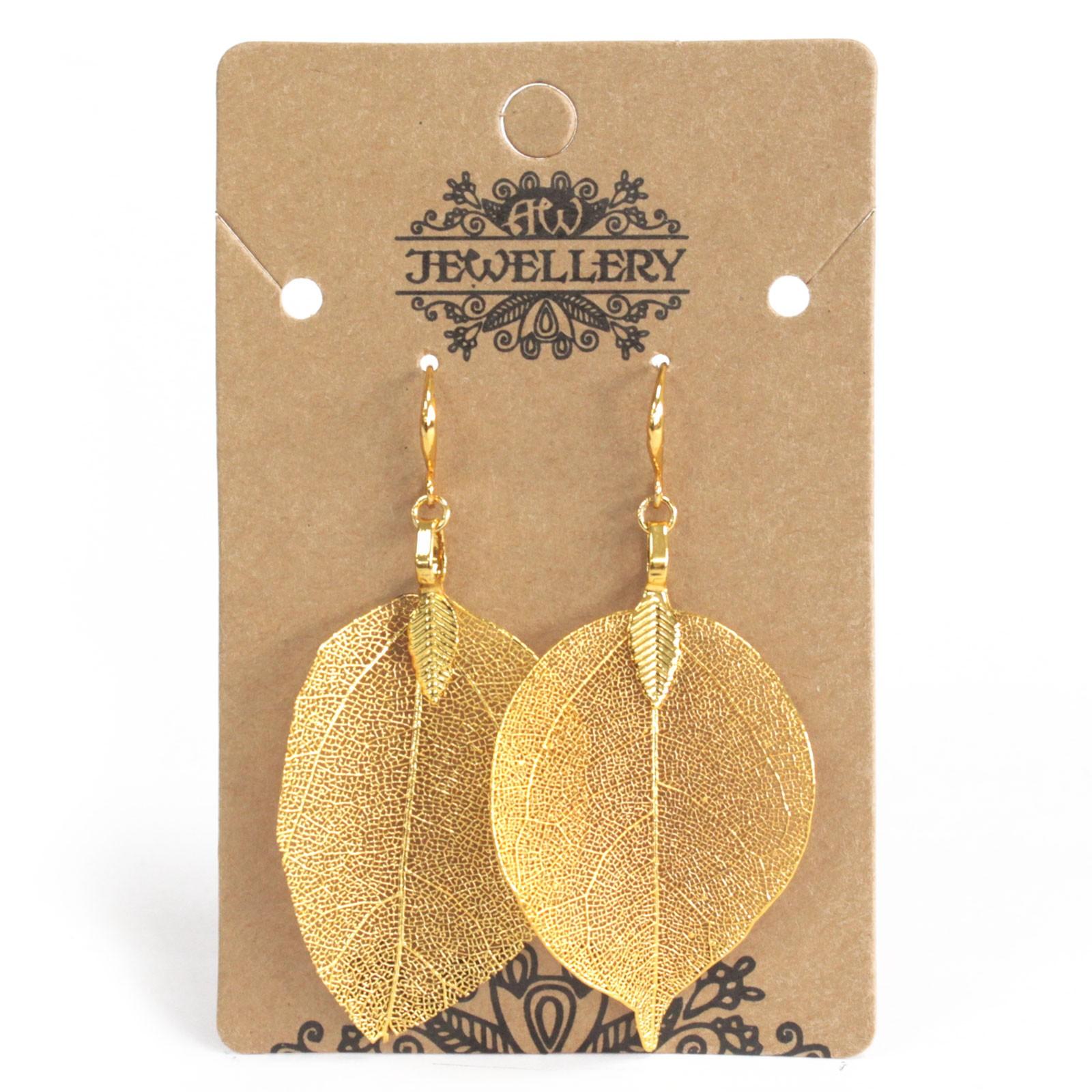 Earrings Bravery Leaf Gold