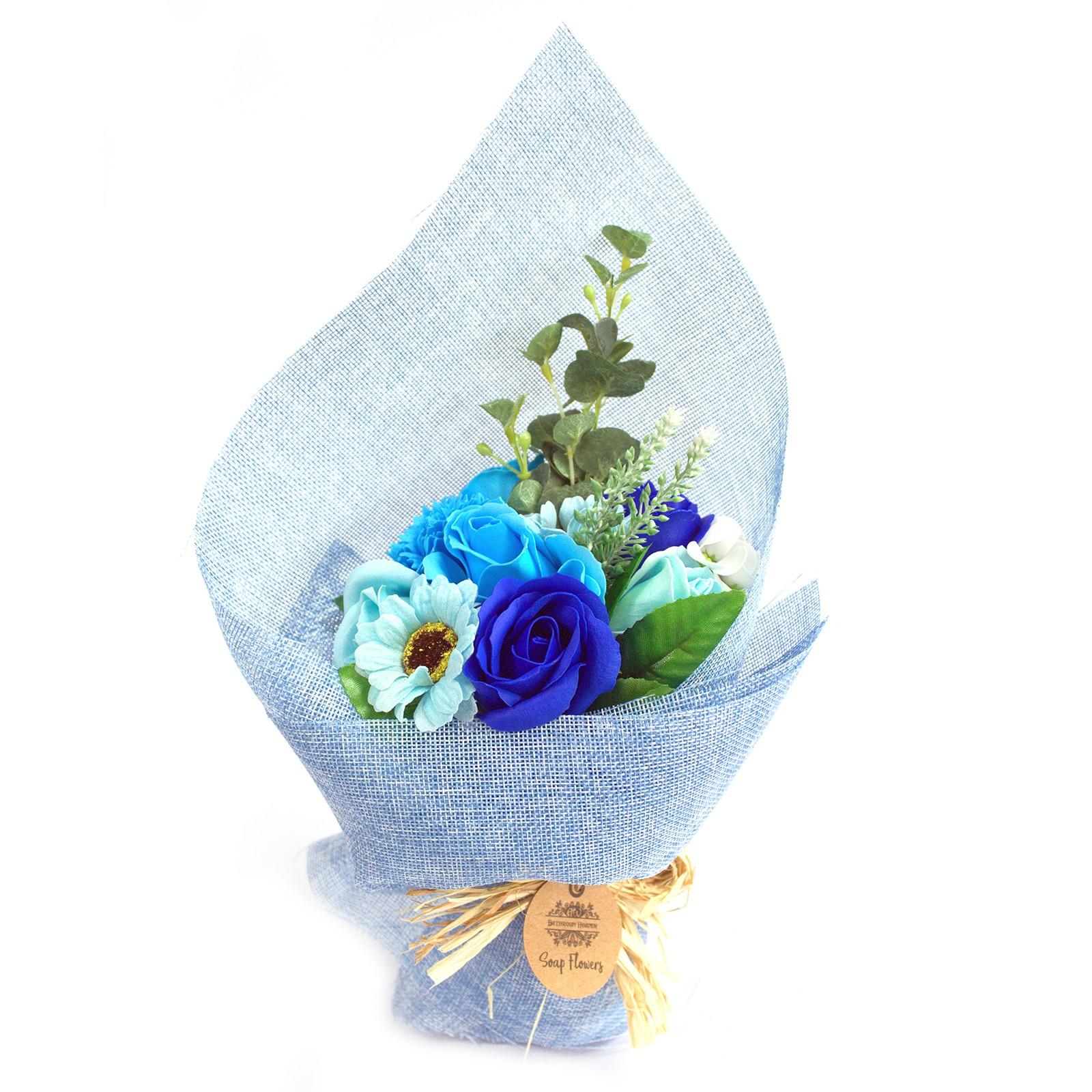 Standing Soap Flower Bouquet Blue