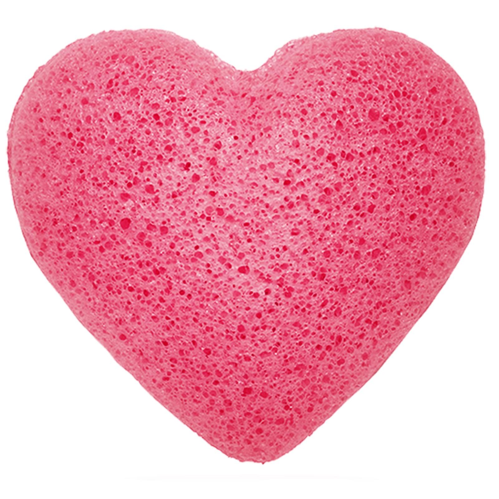 Konjac Heart Sponge Rose