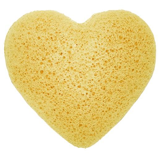 Konjac Heart Sponge Peach