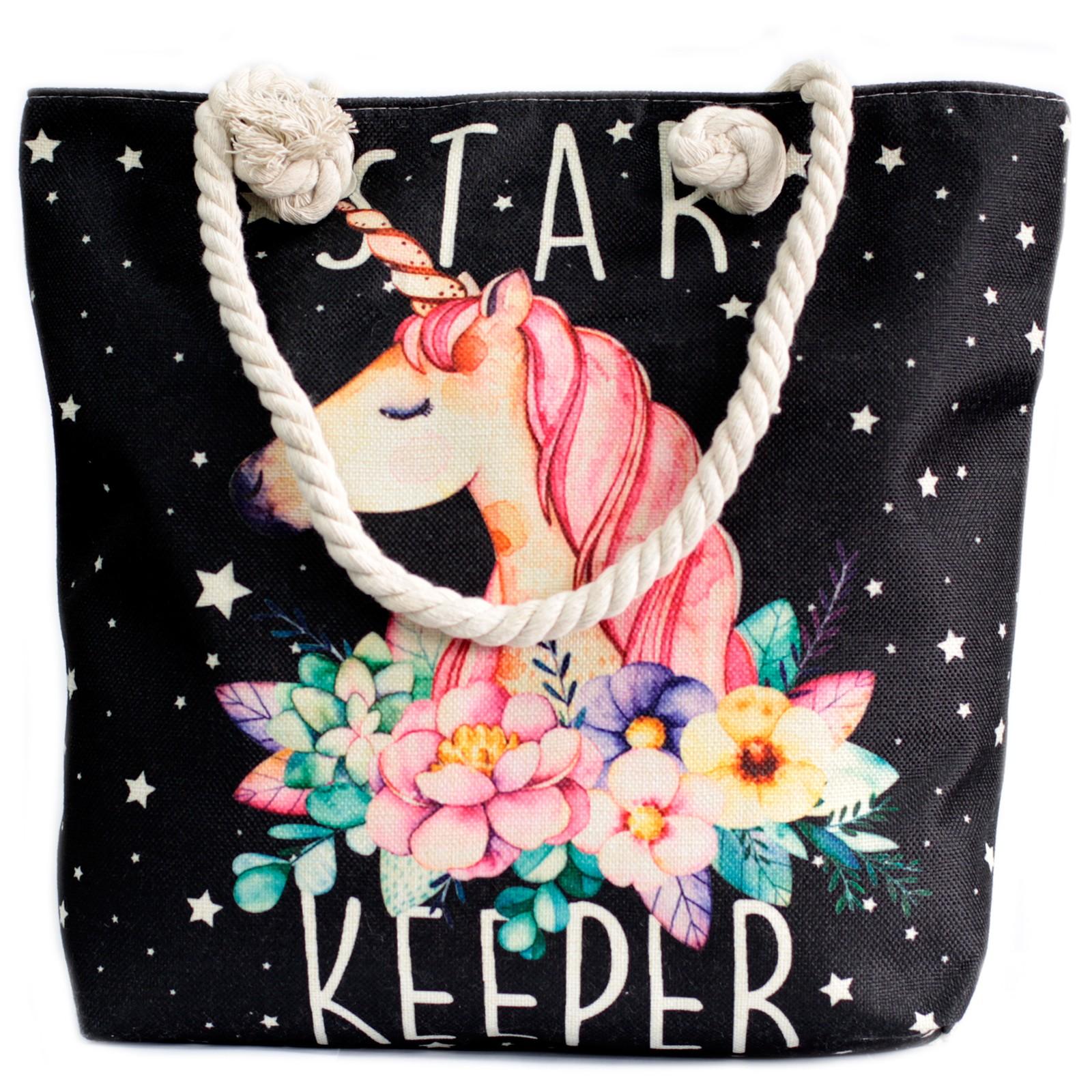 Rope Handle Bag Star Keeper Unicorn