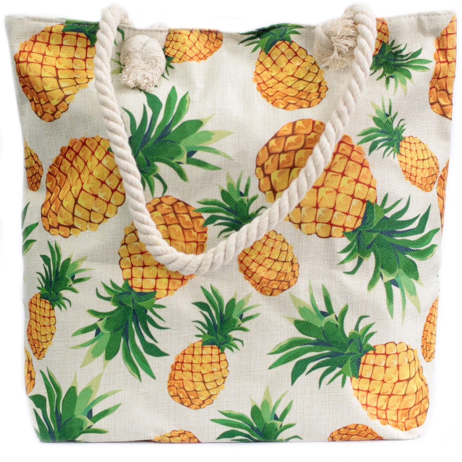 Rope Handle Bag Pineapples
