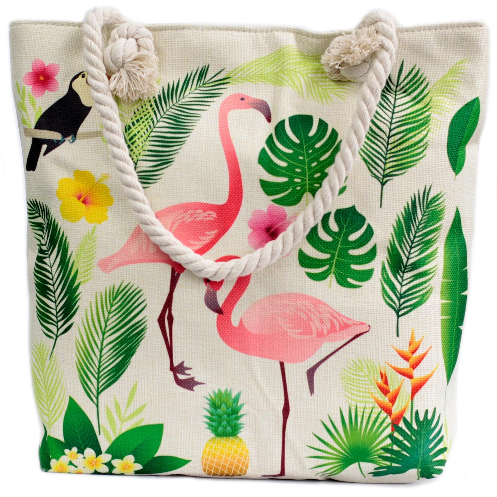 Rope Handle Bag Flamingo and More