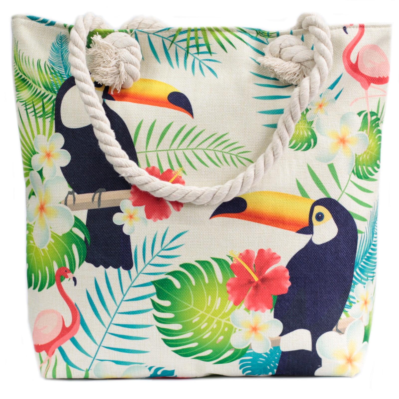 Rope Handle Bag Tropical Toucan