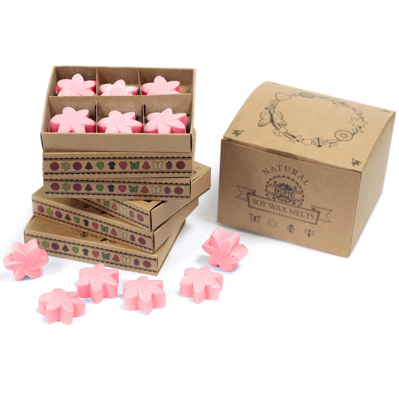 Box of 6 Wax Melts Classic Rose