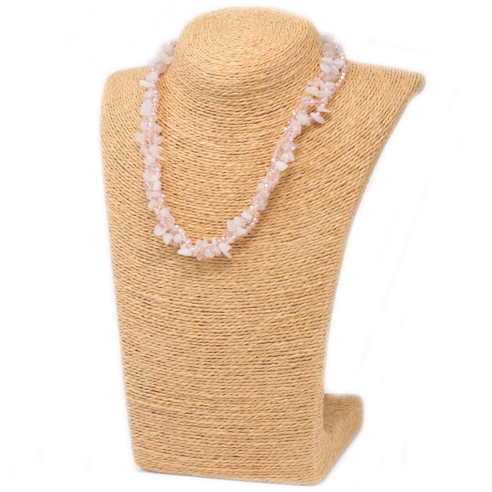 Chipstone  Bead Necklace Rose Quartz