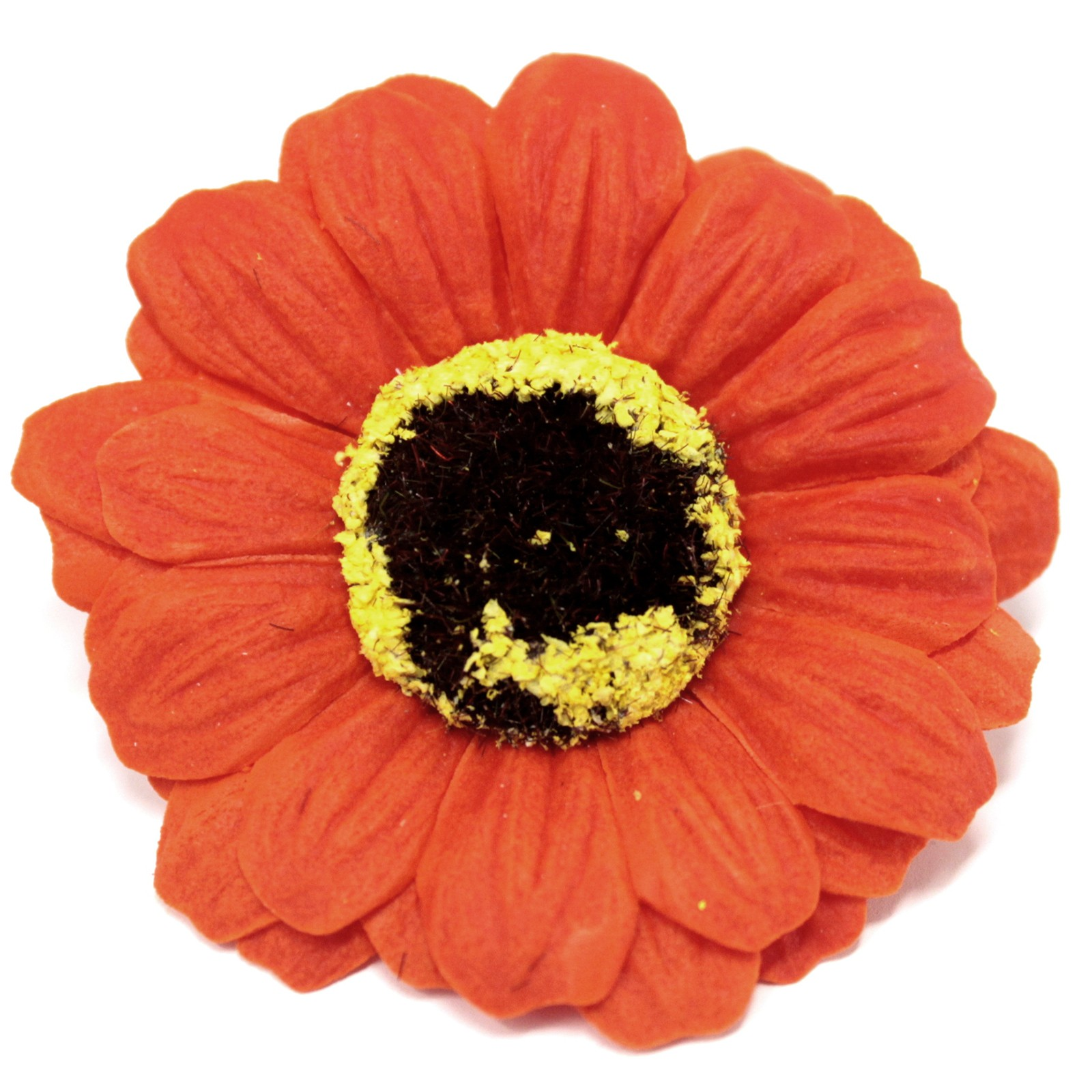 Craft Soap Flowers Sml Sunflower Orange