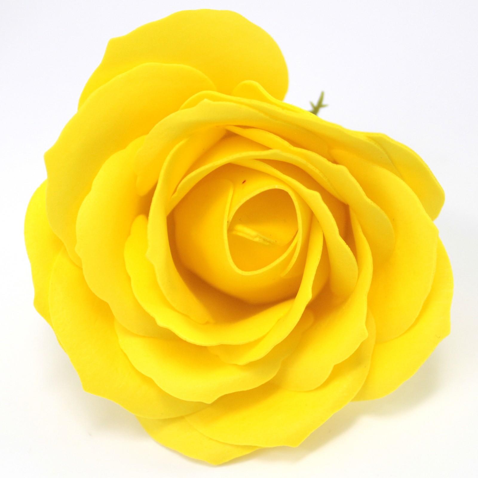 Craft Soap Flowers Lrg Rose Yellow