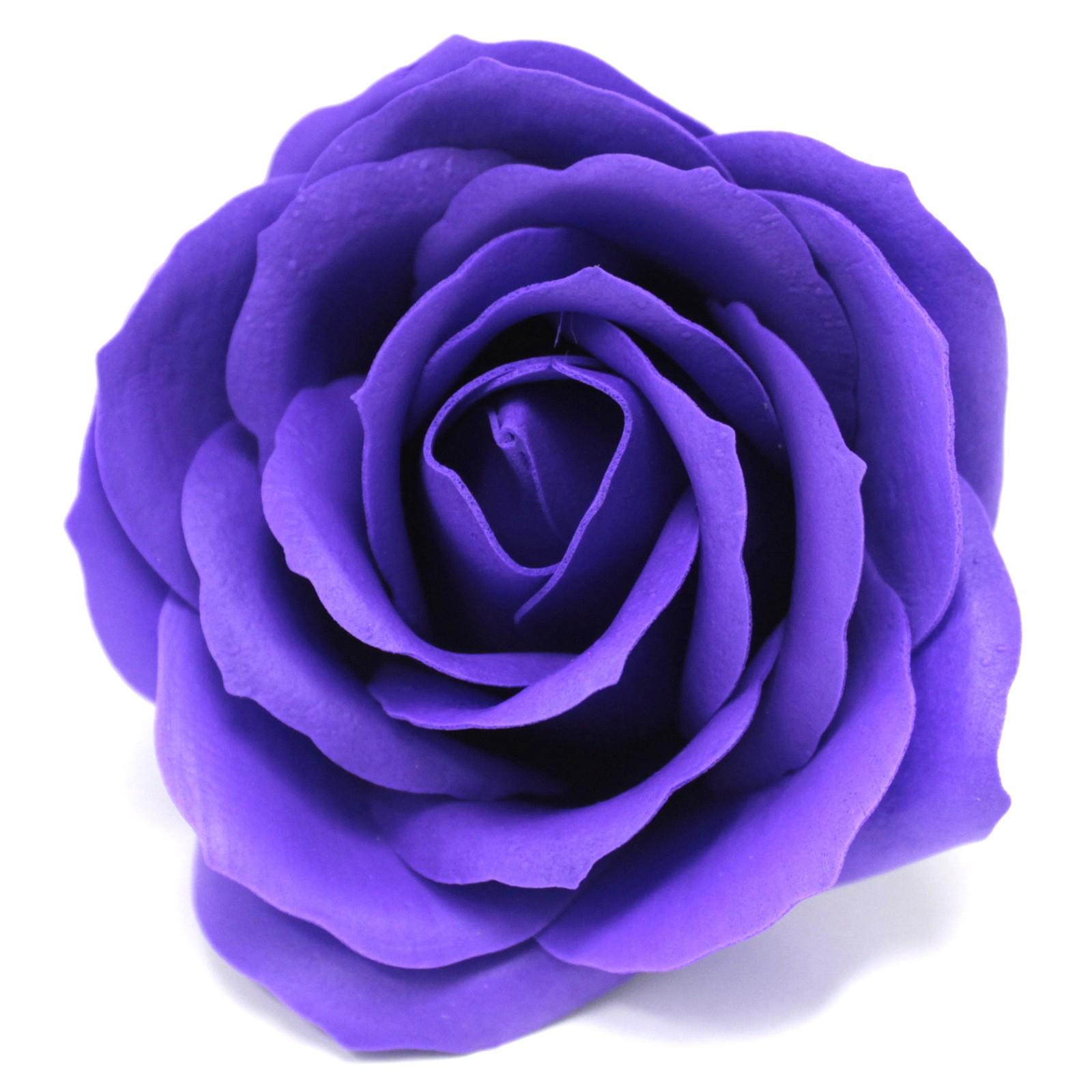 Craft Soap Flowers Lrg Rose Violet