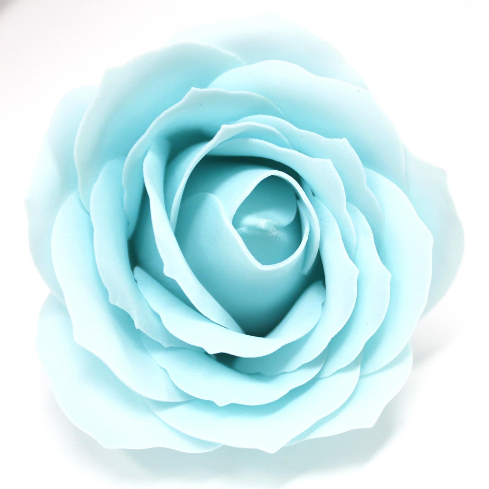 Craft Soap Flowers Lrg Rose Baby Blue