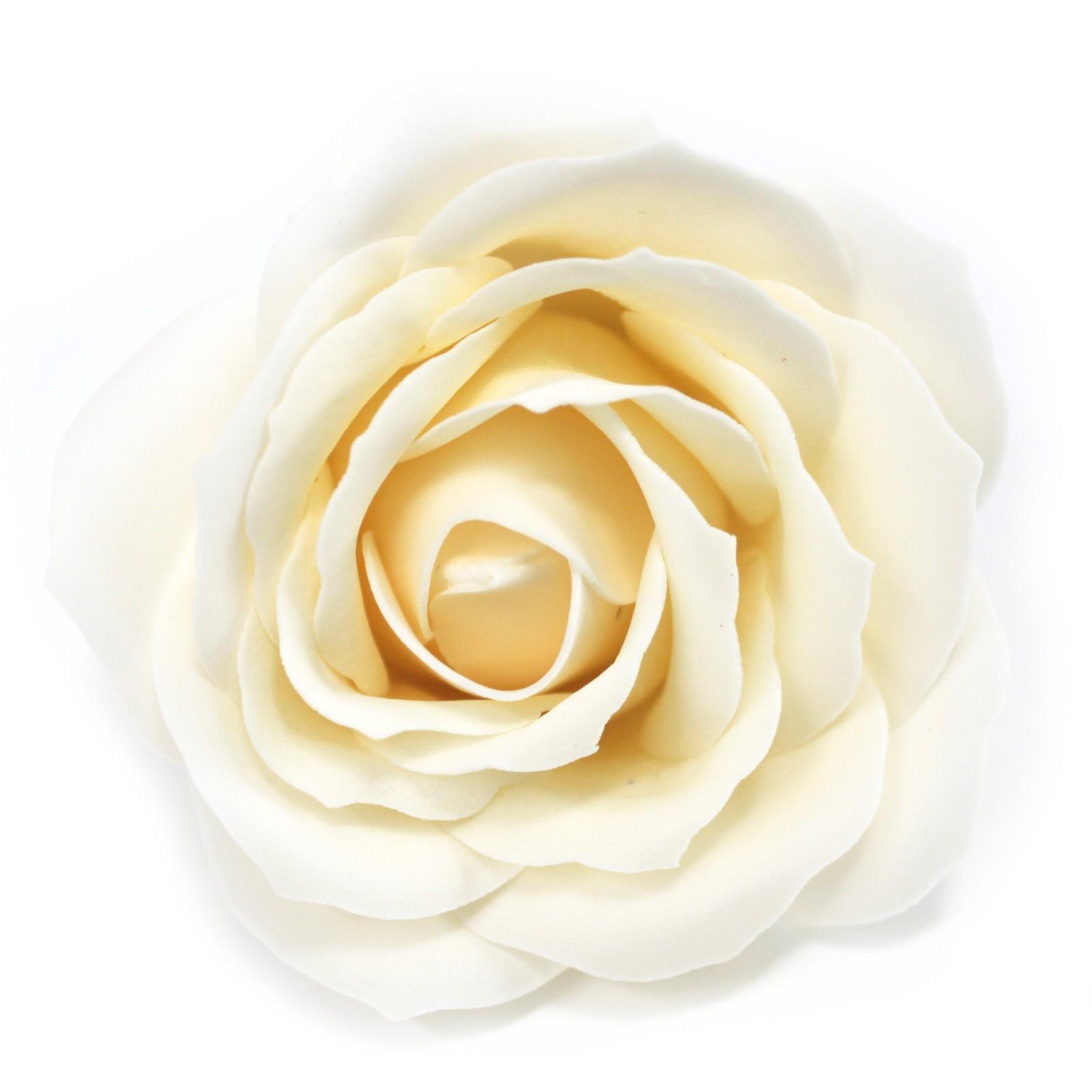 Craft Soap Flowers Lrg Rose Ivory