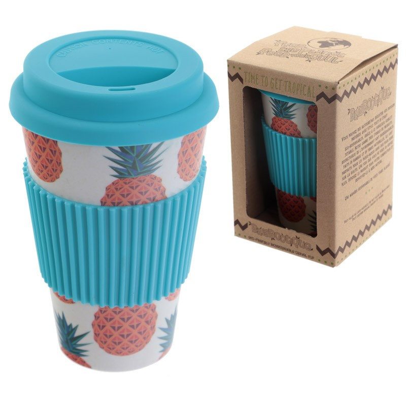 Pineapple EcoFriendly Biodegradable Bamboo Travel Cup