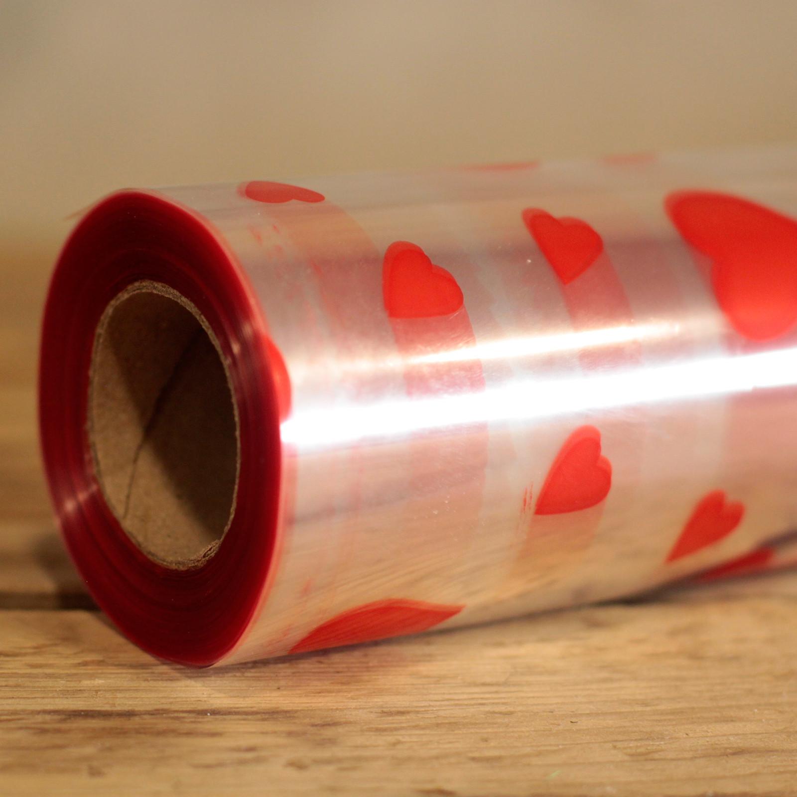 Red Hearts Design Film Wrap 100m x 80cm