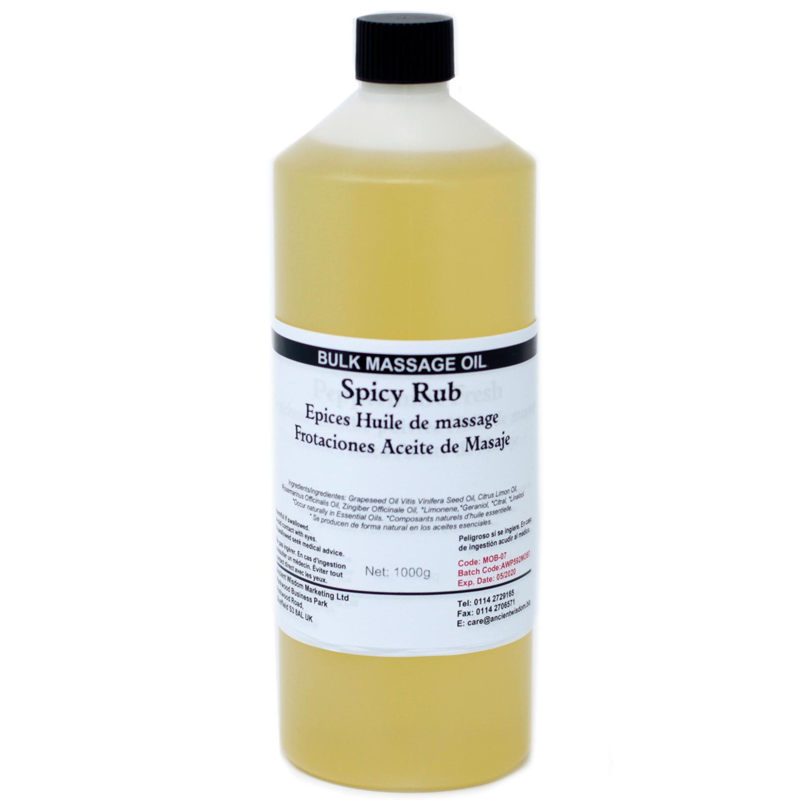 Spicy Rub 1Kg Massage Oil