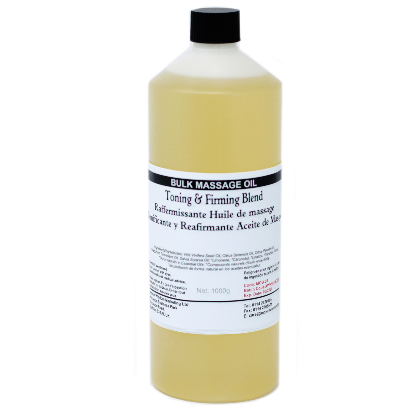 Toning and Firming 1Kg Massage Oil