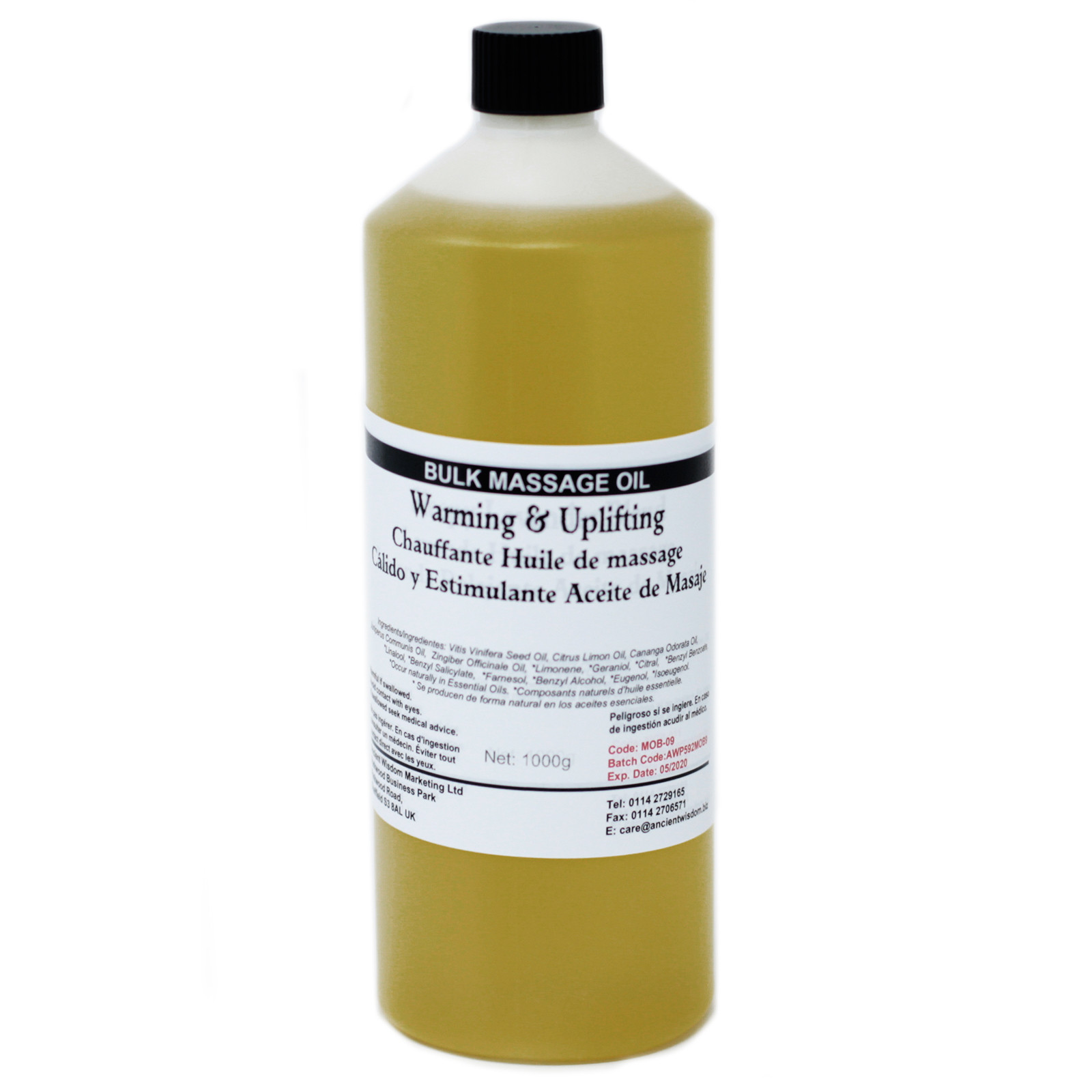 Warm and Uplifting 1Kg Massage Oil