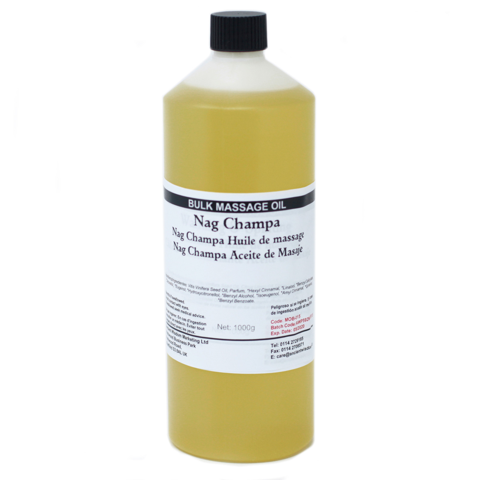 Nag Champa 1Kg Massage Oil