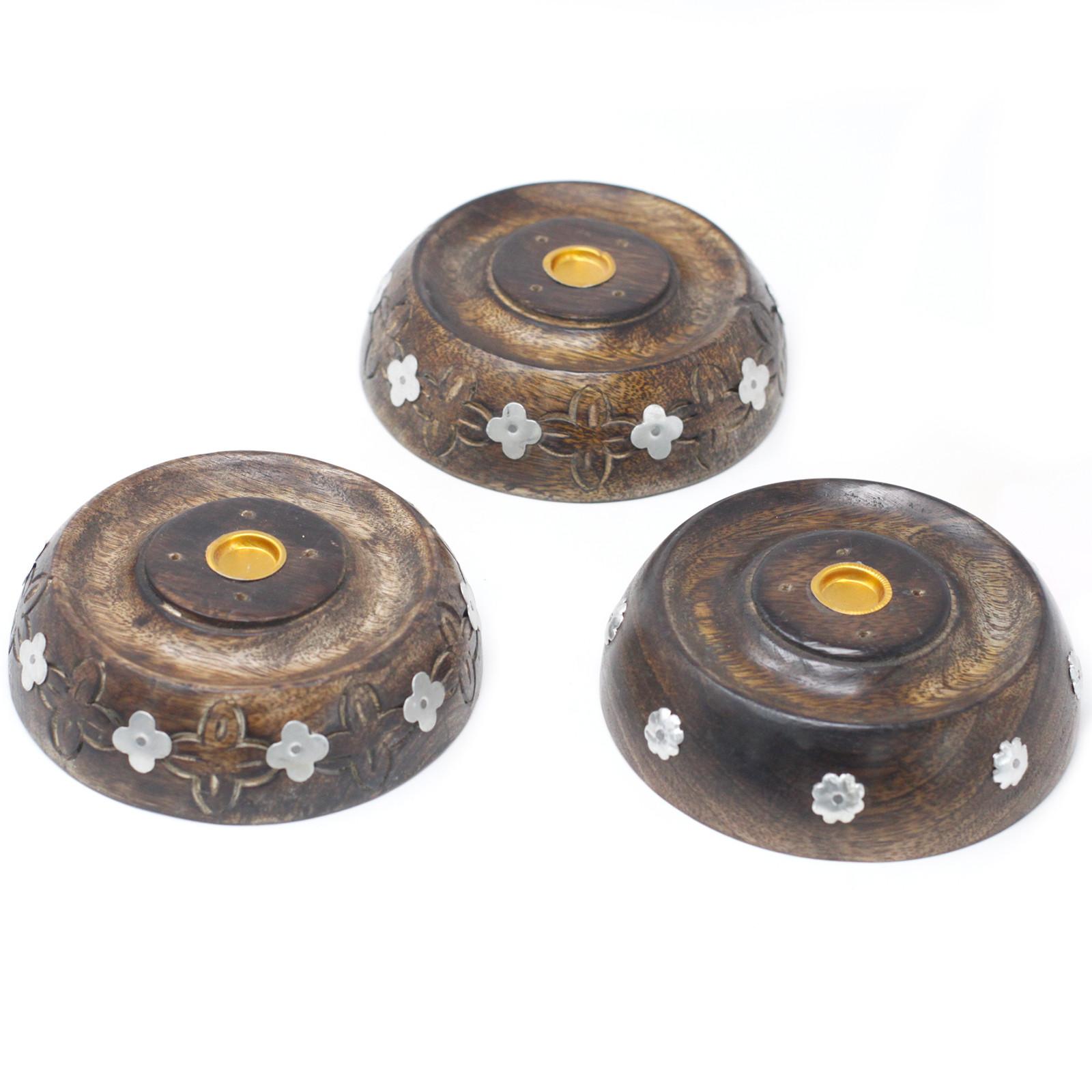 Cone and Stick Burner Asst Design Mango Wood