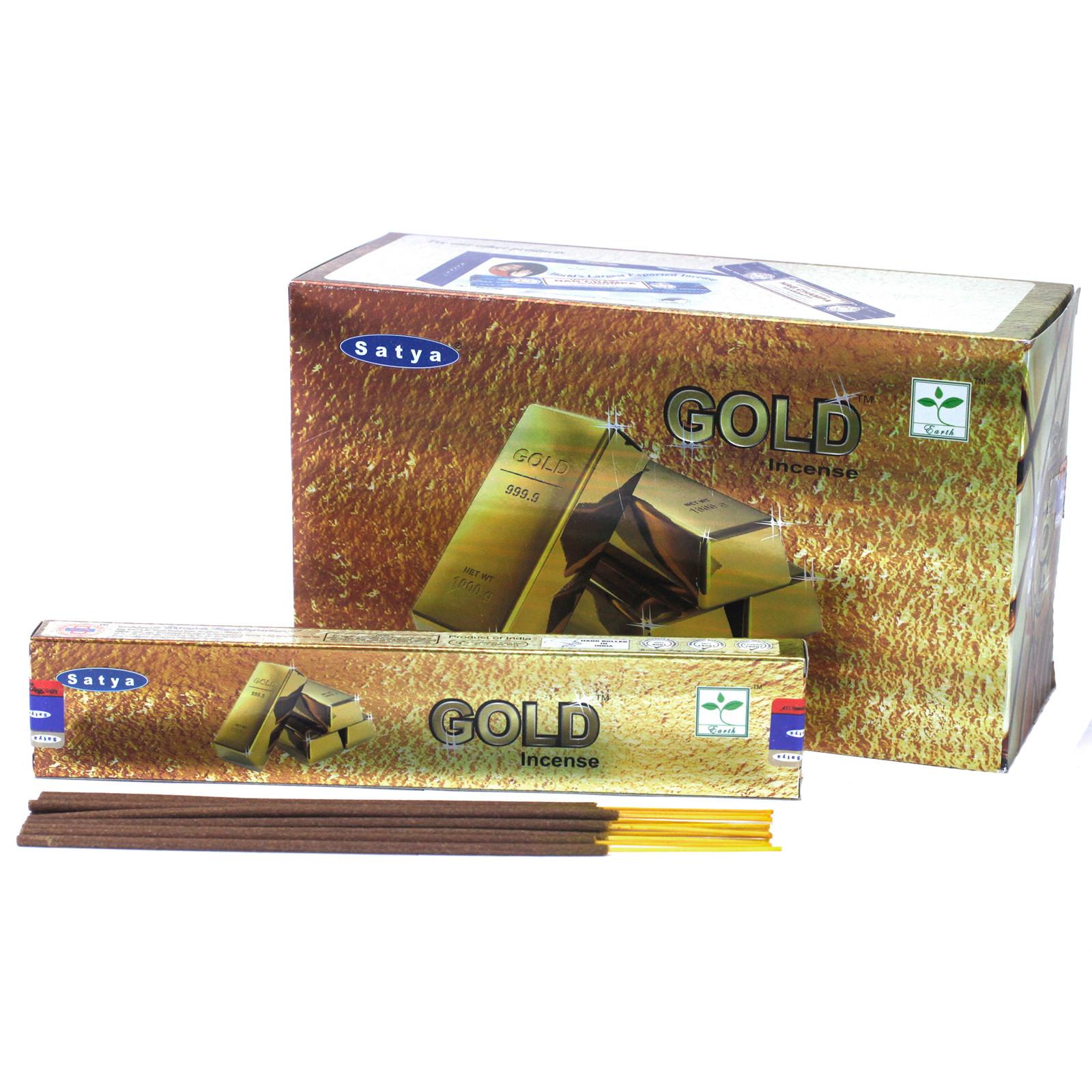 Satya Incense 15gm Gold