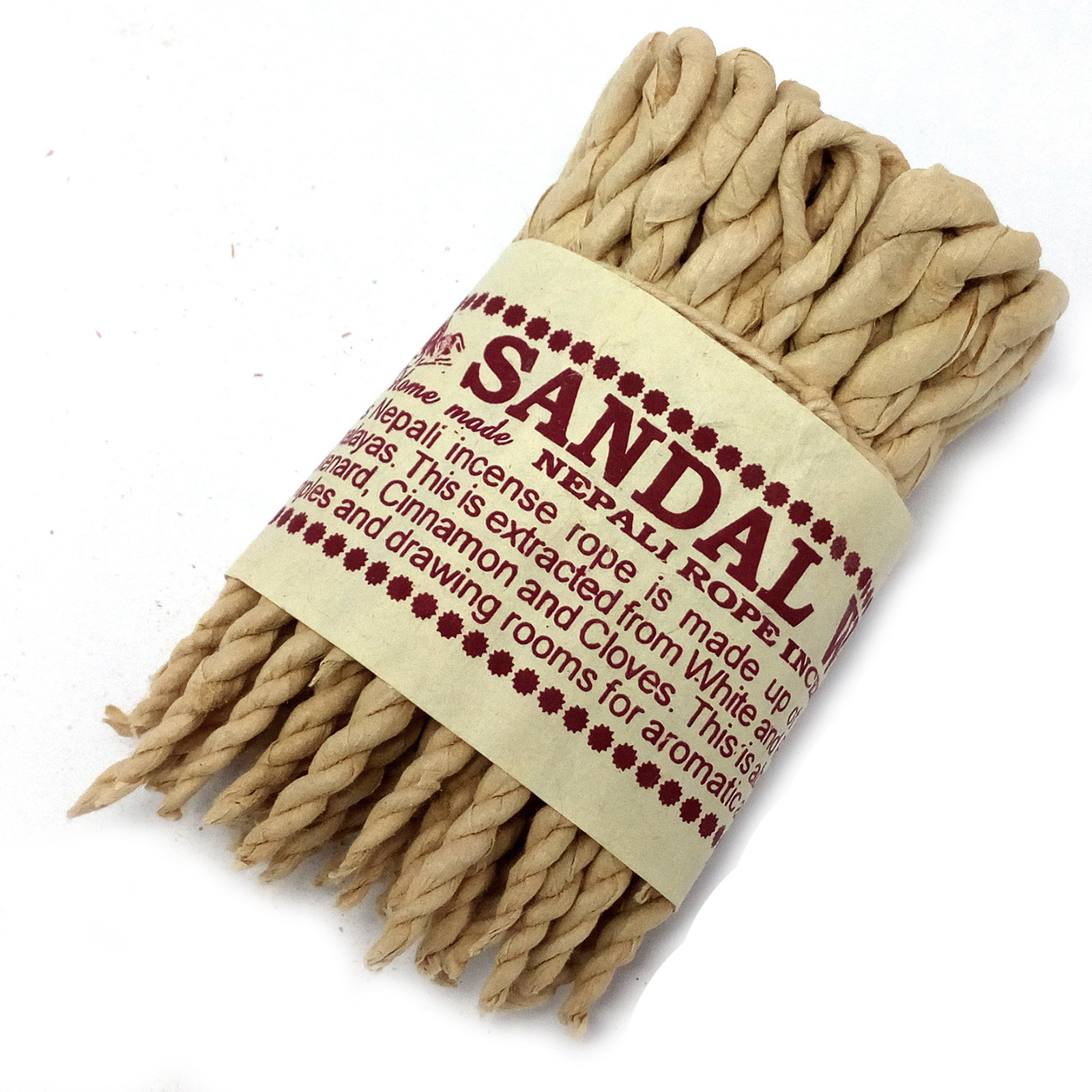 Pure Herbs Sandalwood and Spice Rope Incense