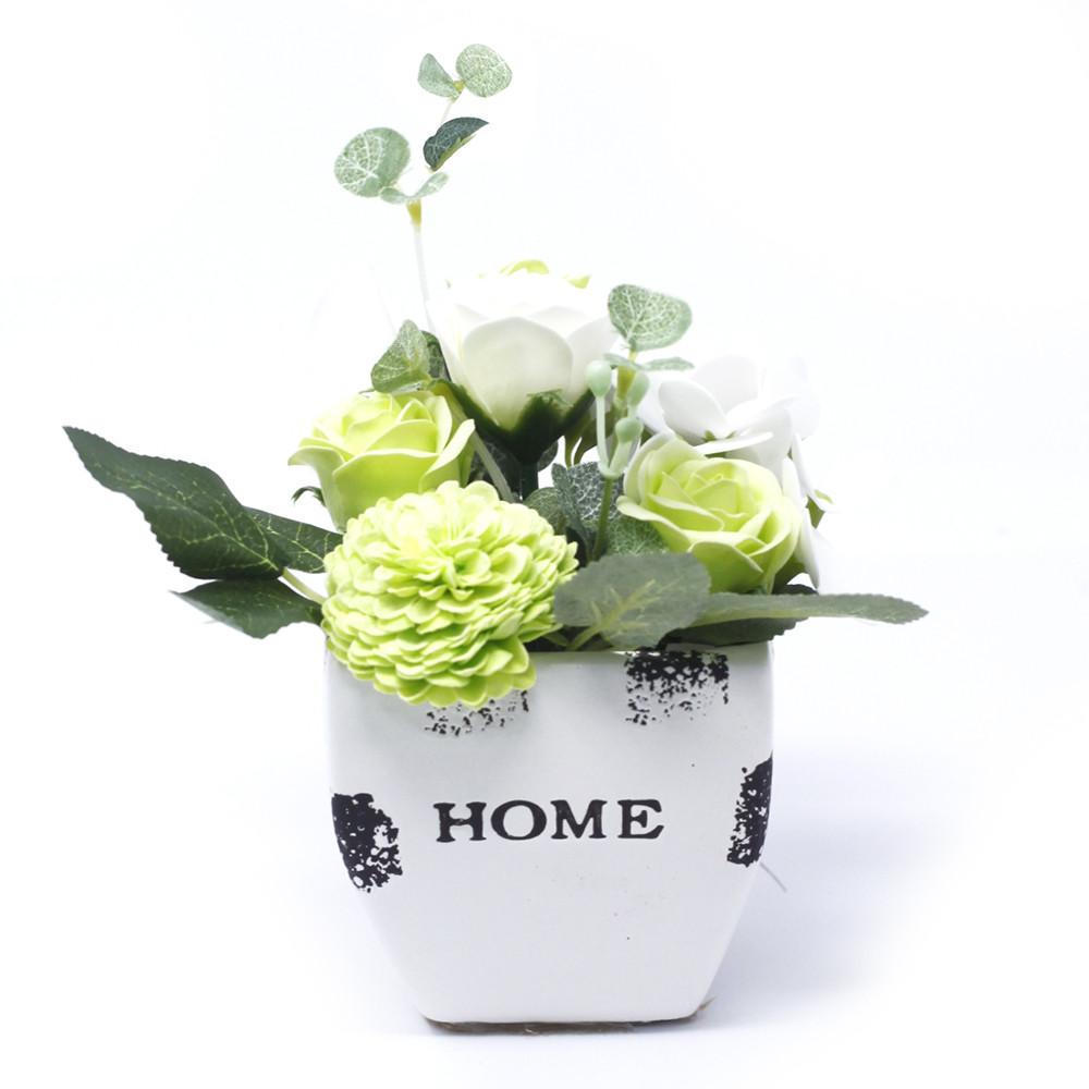 Bouquet Petite Flower Pot Pastel Green