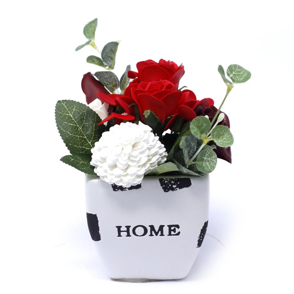 Bouquet Petite Flower Pot Rich Reds