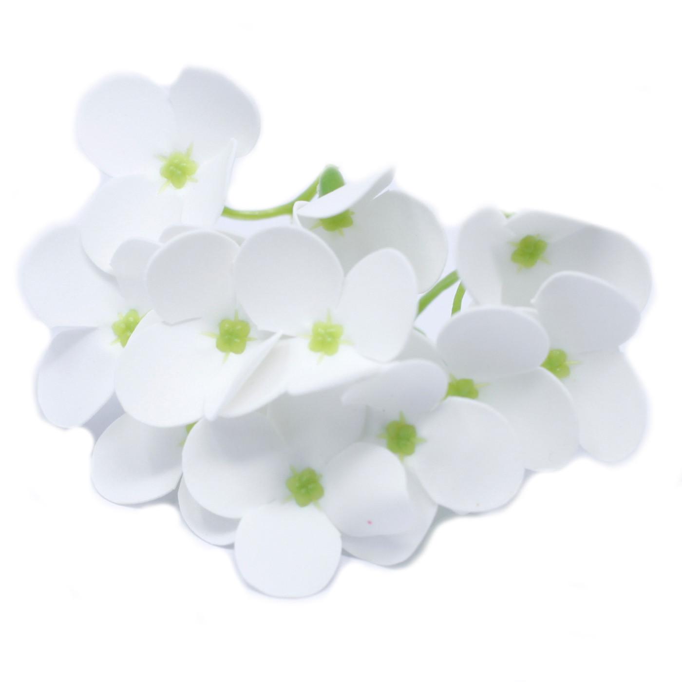 Craft Soap Flowers Hyacinth Bean White
