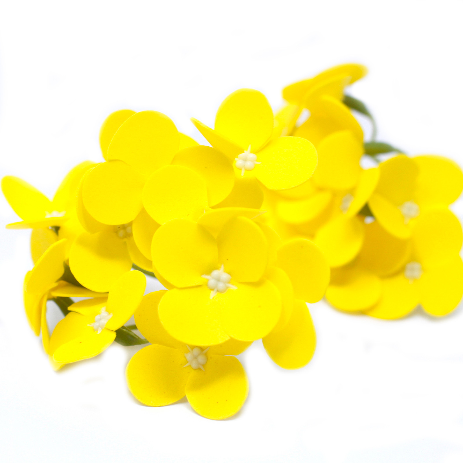 Craft Soap Flowers Hyacinth Bean Yellow