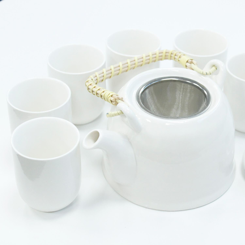 Herbal Teapot Set Classic White
