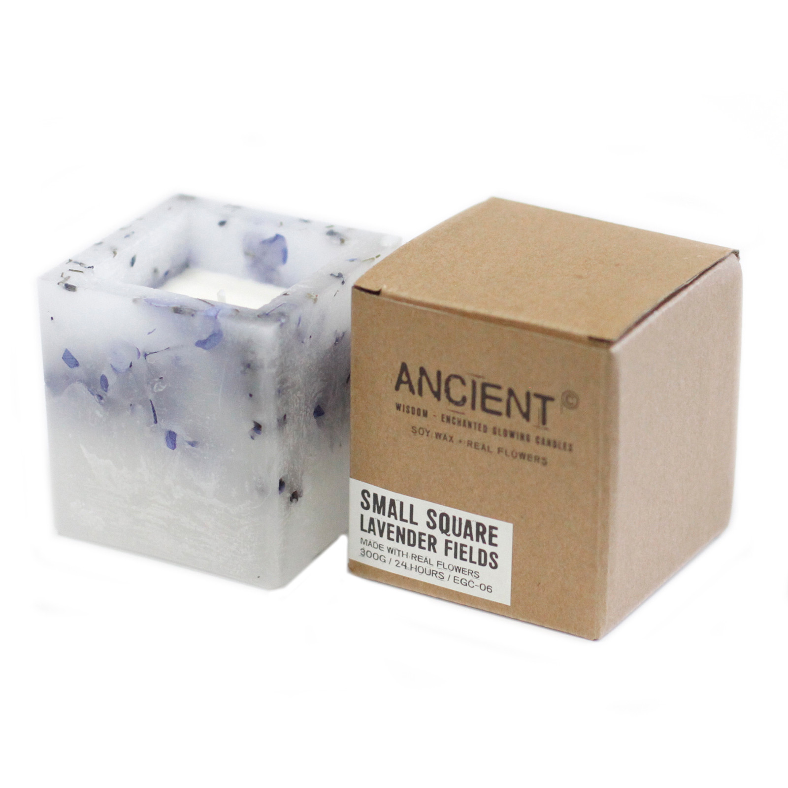 Enchanted Candle Small Square Jar Lavender