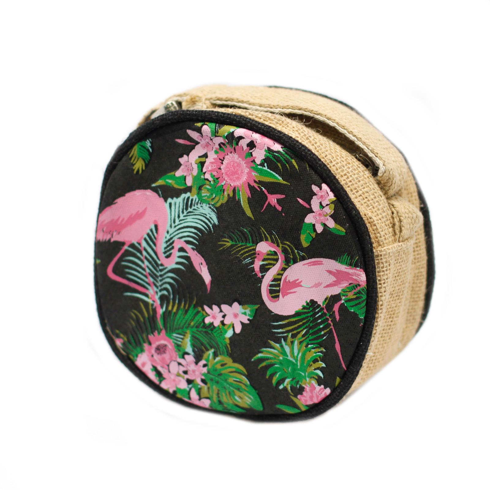 Eco Round Bag Small Flamingos