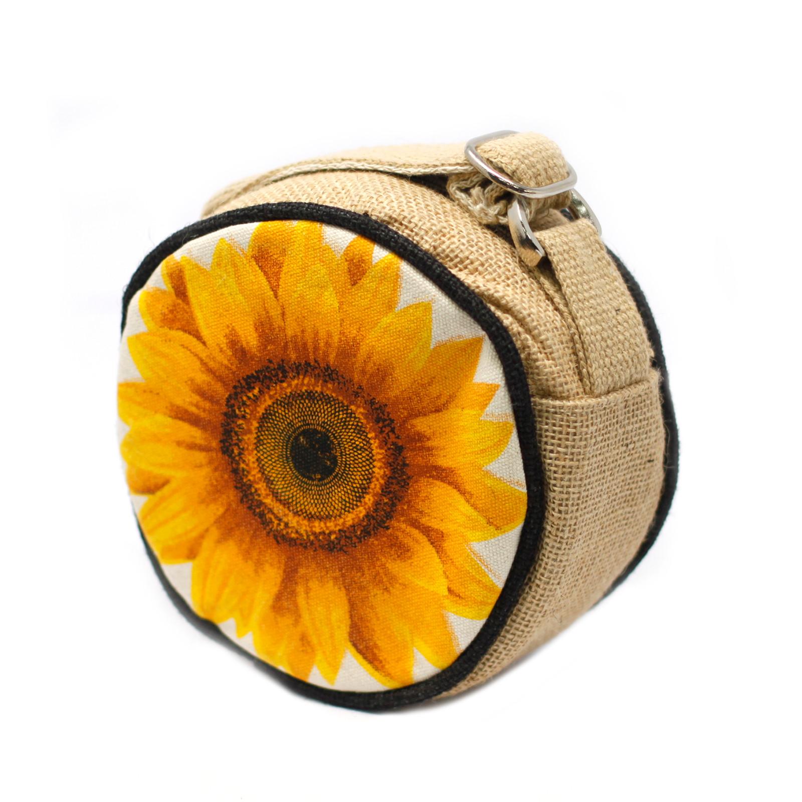 Eco Round Bag Small Sunflower
