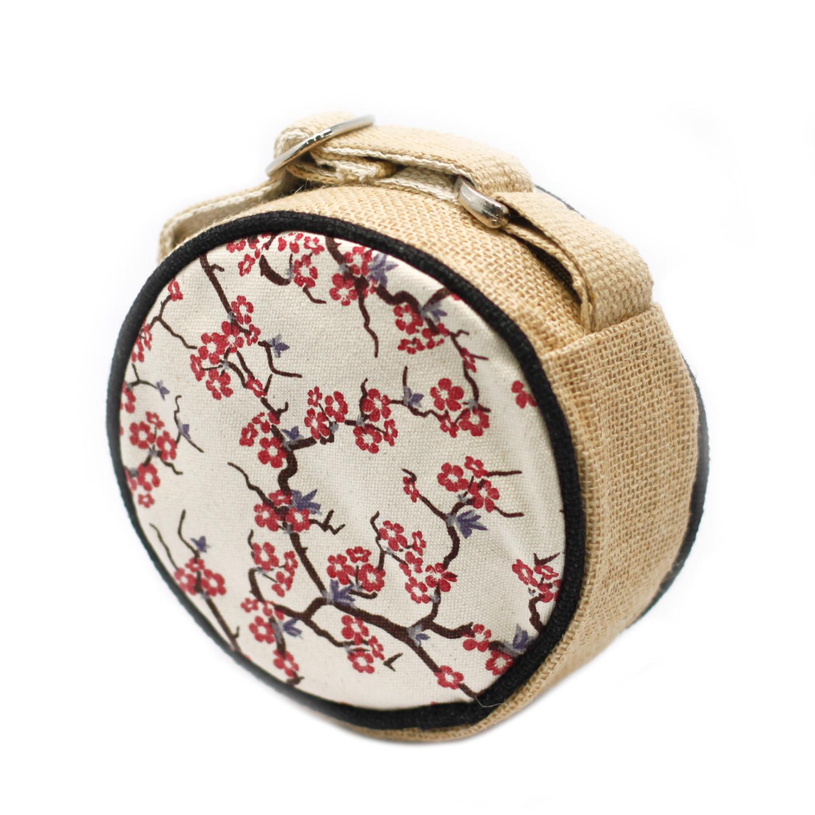 Eco Round Bag Small Cherry Blossom