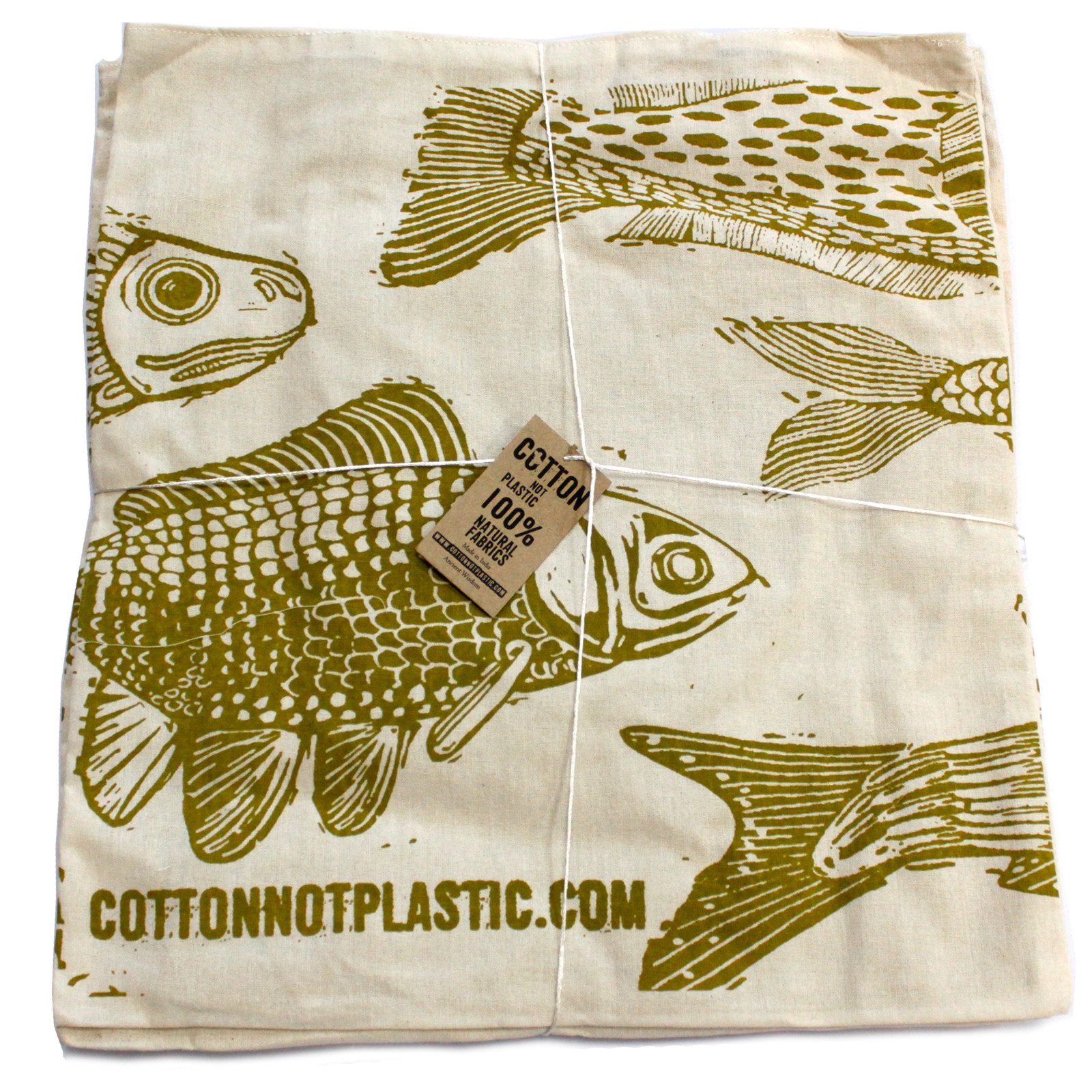 Lrg 2x4oz Reversable Cotton Bag 38x42cm 2 designs