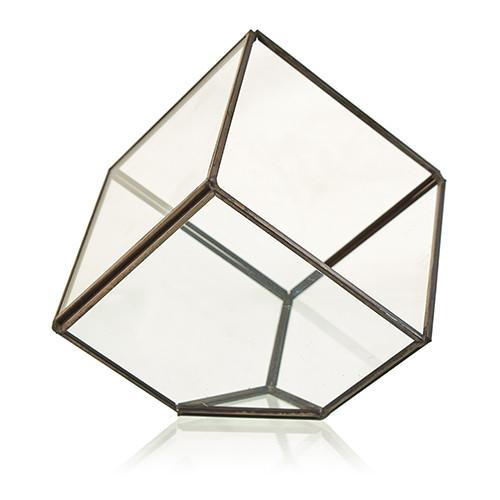 Glass Terrarium Cube on Corner