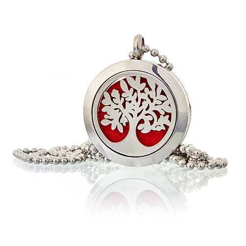 Aromatherapy Diffuser Necklace Tree of Life 25mm
