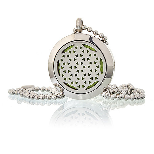 Aromatherapy Diffuser Necklace Flower of Life 25mm