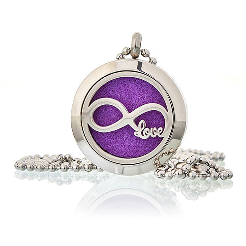 Aromatherapy Diffuser Necklace Infinity Love 25mm